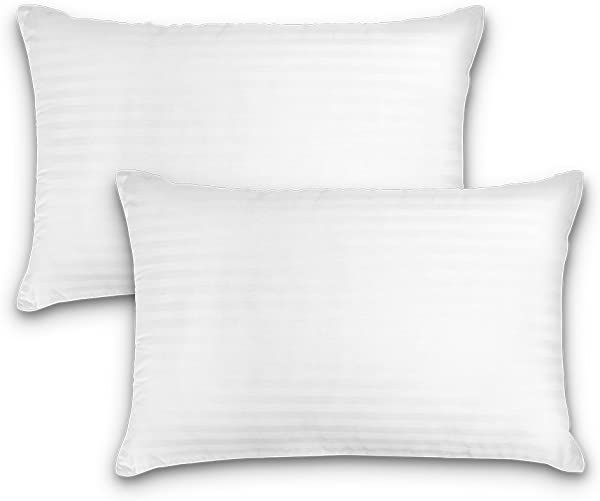 DreamNorth Premium Gel Pillow Loft Luxury Plush Gel Bed Pillow For Home Hotel Collection Good For Side Back Sleeper Cotton Cover Dust Mite Resistant Hypoallergenic Standard Size