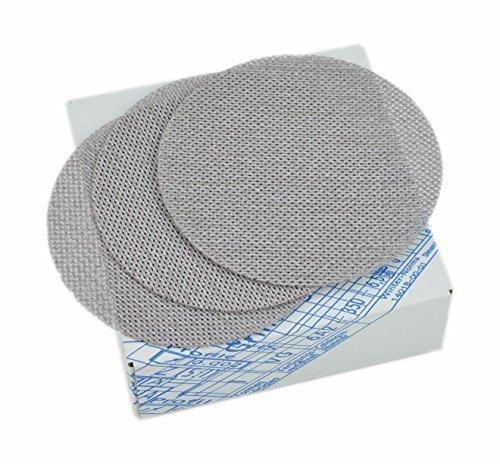 Schleifgitter Supersand | 25 Stück | Schleifscheiben Korn 100 | Ø 150mm | Geeignet für Deckenschleifer, Trockenbauschleifer & Exzenterschleifer