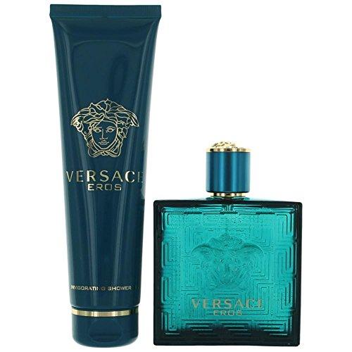 Versace Eros By Versace 2 Piece Gift Set-3.4 Oz Eau De Toilette Spray,5.o Oz Shower Gel For Men 3.4 oz, Combo 2