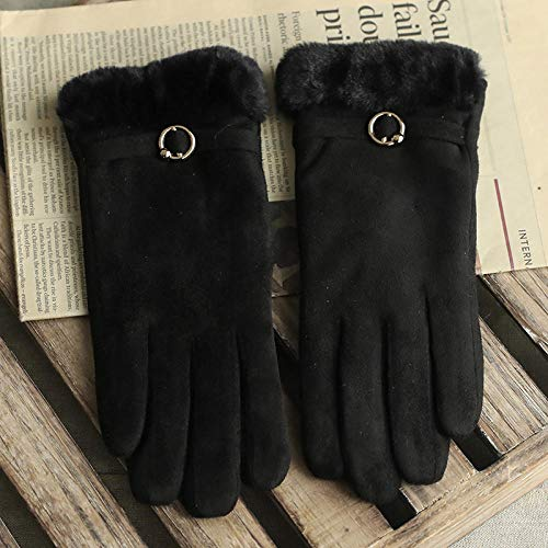 Weier. Ben Handschoenen vrouwelijke winter warm plus fluwelen dikke handschoenen met vijf vingers rijden touchscreen dames handschoenen