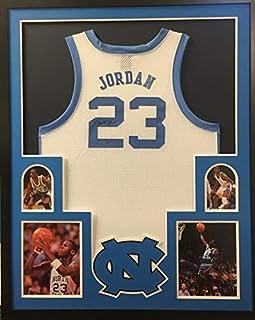 be6bde3f52a Michael Jordan North Carolina Tar Heels Autograph Signed Custom Framed  Jersey White UDA Upper Deck Authenticated