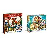 Clementoni- Mercante In Fiera Giochi Da Tavolo, Multicolore, 16068 & Clementoni - Tris &Amp; L'Impiccato Giochi Da Tavolo Colore Multicolore, 16064