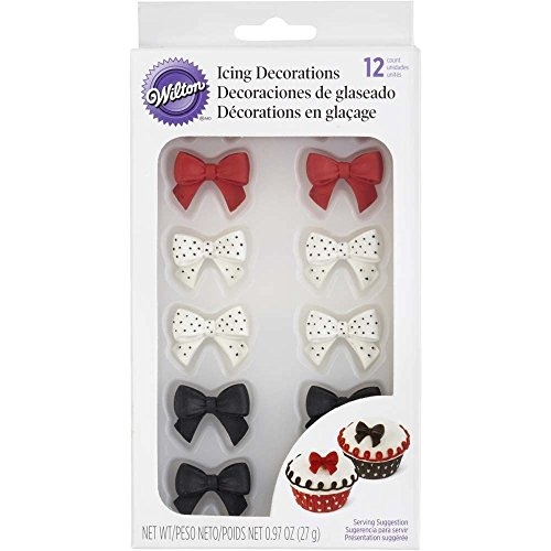Wilton Icing Decoration, Royal Polka Dot Bows