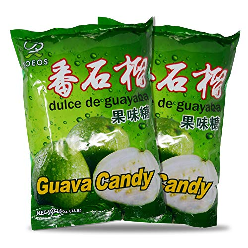 Soeos Guava Candy (32oz), Guava Hard Candy, Japanese Guava Candy, guava asian candy, guava japanese candy, Approx. 340 Pieces, 32oz (2 lbs).