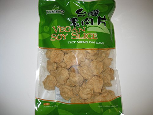 Vsoy Natural Meatless Vegan Soy slice Textured Soy Protein Vegetarian Meat Substitute Unflavored 8 oz.