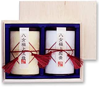 お茶 お土産 ギフト 緑茶 玉露 煎茶 八女茶 木箱入り H-2S60 八女茶の里