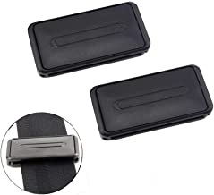 Car Seat Belt Adjuster, Seatbelt Clips, Smart Adjust Seat Belts to Relax Shoulder Neck, Set of 2 Pieces in Black, Provides Comfort for Neck and Shoulder While Driving Extremely Easy to use.