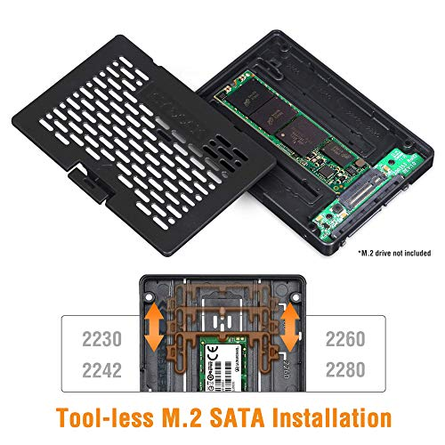 ICY DOCK Ezconvert (Tool-Less) M.2 SATA SSD to 2.5' SATA SSD Converter Adapter Bracket Case Enclosure - MB703M2P-B