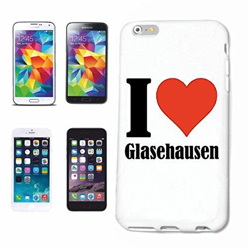 Bandenmarkt telefoonhoes compatibel met Samsung Galaxy S6 Edge I Love Glazen uiten Hardcase beschermhoes mobiele telefoon cover Smart Cover