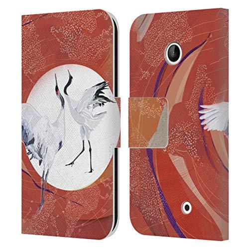 Head Case Designs Licenza Ufficiale Turnowsky Cigni Animali 3 Cover in Pelle a Portafoglio Compatibile con Nokia Lumia 630