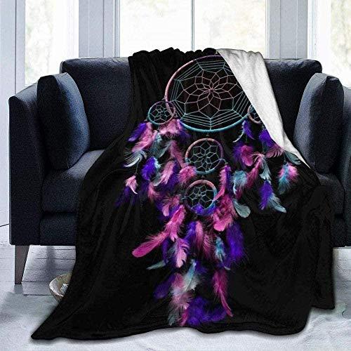 DWgatan Kuscheldecke Decke,Easy Care Super Warm Fleece Blanke Bed Throw,Dream Catcher Bedruckte Bequeme Fleece-Decke Fit Couch BedSofa Chair-80 X60 (200 * 150 cm)