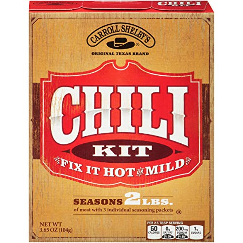 Carroll Shelby's Original Texas Chili Mix Kit, 3.65 Oz (Pack Of 8)