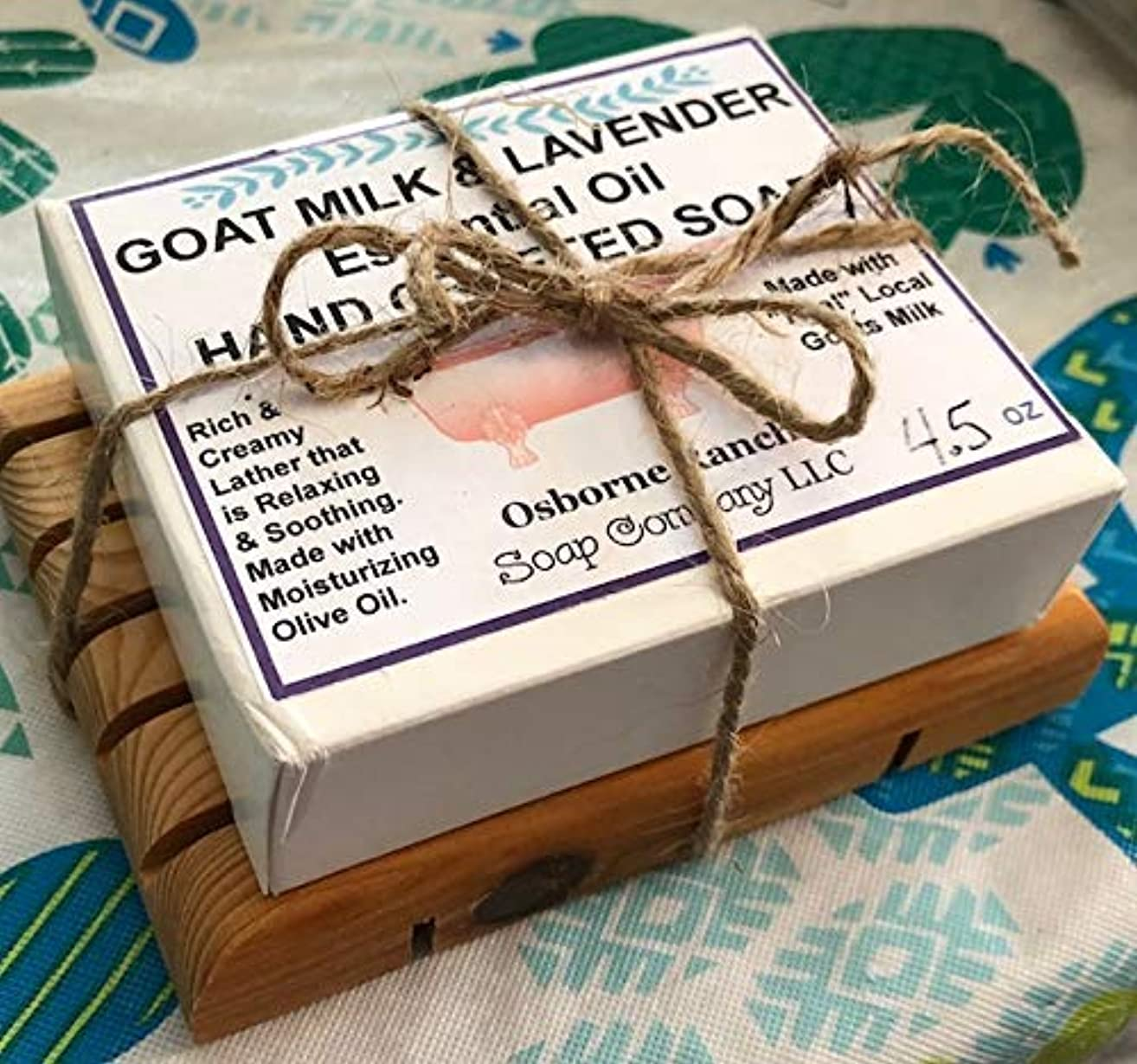 GOAT MILK LAVENDER ESSENTIAL OIL HAND CRAFTED SOAP GIFT SET