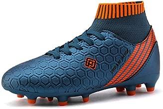 DREAM PAIRS Boys Girls HZ19007K Soccer Shoes Football Cleats Dark Blue Orange Size 13 M US Little Kid