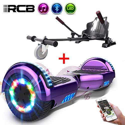 RCB Gyropode électrique Hoverboard Auto-Equilibré Scooter Electrique 6,5 Pouces avec LED +...