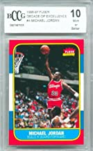 1996-97 (1986 Rookie) Fleer Decade of Excellence #4 Michael Jordan Graded BCCG 10