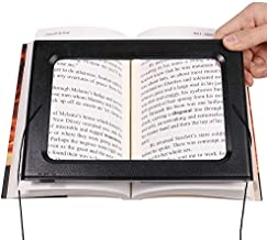 Large Full-Page 3X Magnifying Glass Hands-Free Rectangular Magnifier LED Lighted Illuminated Foldable Desktop Portable for Elder
