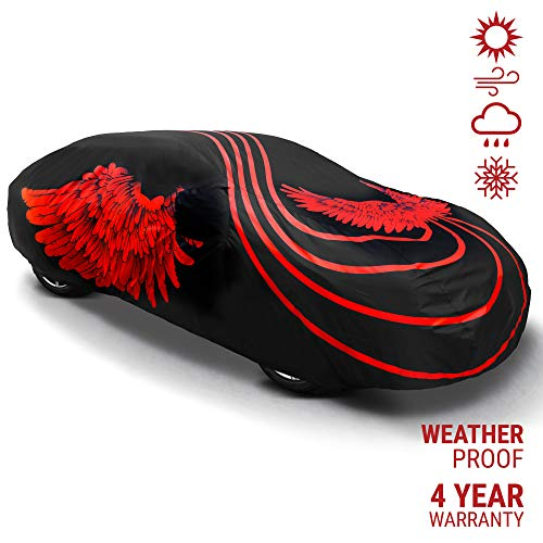 Sedan or SUV Car Cover Waterproof All Weather Protection | Luxury Car Accessory | 4 Years Warranty | Indoor and Outdoor | Unique Design | Universal Fit for Standard +Full Sedans, SUV Compact + Midsize
