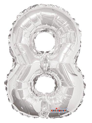 Aantal 8 Aria 14 inch ballon van blik zilver
