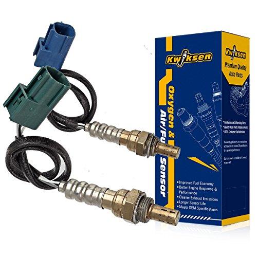 Kwiksen 2pcs Upstream and Downstream Oxygen Sensor 1 Sensor 2 Bank 1 Bank 2 Replacement for Altima Base-2.5L S-2.5L SL-2.5L 2002-2003/ Sentra SE-R-2.5L SE-R Spec V-2.5L 2002-2003