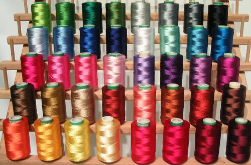 Best Prices! 40 Christmas Colors Embroidery Threads Compatible with Brother Machine - 500 Meters Spo...