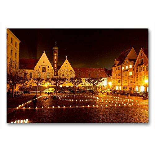 CALVENDO Premium Textil-Leinwand 90 x 60 cm Quer-Format Elias-Holl-Platz, Augsburg, Deutschland, Leinwanddruck von Martina Cross