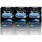 Durex Condoms - 10 Count (Pack of 3, Extra Time)