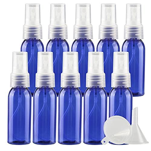 TIANZD 100 Piezas Pequeño 30 ml Botella de Spray Plástico Vacías Azul con Bomba en Spray Transparente de Niebla Fina Atomizador para Perfume Viaje Artículos de Agua Cosmético Alcohol