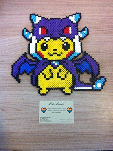 Pixel Art / Perler Beads Pokemon Pikachu MCharizard