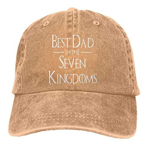 RFTGB Unisex Caps Zubehör Hüte Baseball Caps Cowboyhüte Best Dad in The Seven Kingdoms Denim Baseball Cap, Unisex Vintage Dad Hat, Golf Hats, Adjustable Plain Cap