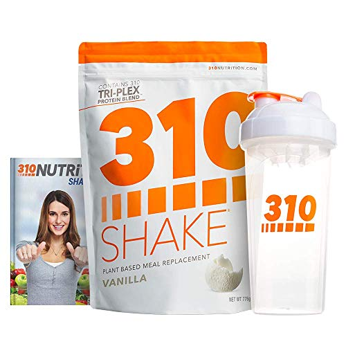 Vanilla Plant Protein Powder and Meal Replacement Shake | Gluten, Soy Protein, and Dairy Free - 0g of Sugar | Keto and Paleo Friendly | Includes Clear Shaker and Recipe eBook (Digital) | 28 Servings