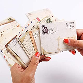 12 Pcs/lot 12 Designs Vintage Kraft Paper Envelope Cute Mini Envelopes Vintage European Style For Card Scrapbooking Gift
