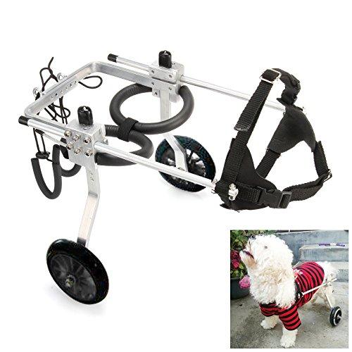 ANMAS Power Verstellbarer und tragbarer Rollstuhl für Hinterbeine, Hundegeschirr und Hinterbeine, Rehabilitationshilfe für Alterung, Behinderung, Verletzungen, Arthritis, Hund/Katze/Haustier - (L)