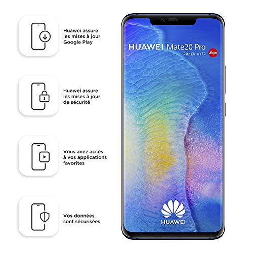 Smartphone Dual SIM Huawei Mate20 Pro de 128 GB   6 GB - Azul medianoche (Europa occidental) (enchufe de 2 clavijas)