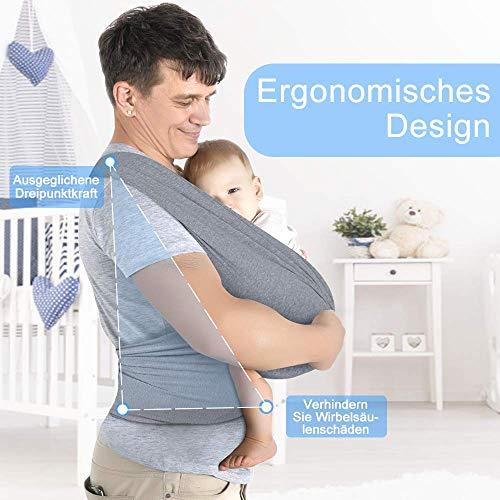 Lictin Babytragetuch Kindertragetuch Babybauchtrage Sling Tragetuch für Baby Neugeborene Innerhalb 16 KG - 2