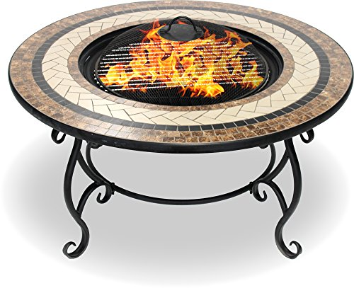Centurion Supports Fireology Topanga Chauffage de jardin/foyer/table basse/barbecue/Seau à glace – en céramique Finition