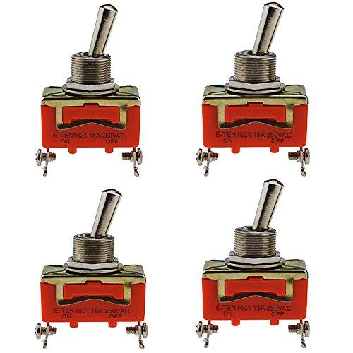 Interrupteur Inverseur,4 pièces Voiture Commutateur à Bascule, Métal de Style de Missile ON/OFF Tableau de Bord de Voiture