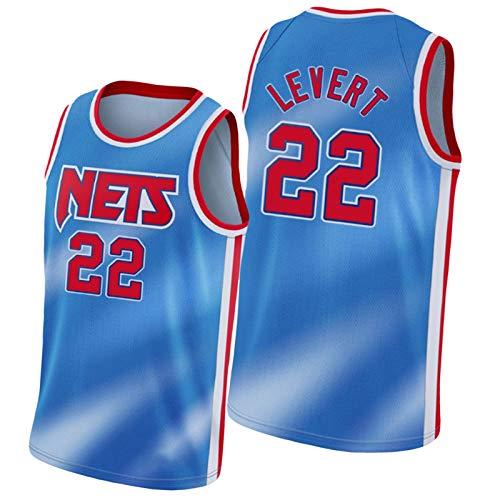 Nets # 2 Prince # 22 Levert # 26 Dinwiddie Basketball Jersey sin Mangas para Hombres Chaleco de Ropa Deportiva, Entrenamiento Sudadera de Baloncesto Top Retro gradie #22 Levert-M