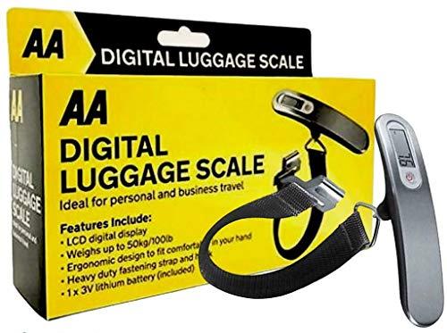 AA 50KG LBS OZ Handheld Digital mini Luggage Scales Weighing Travel Suitcase