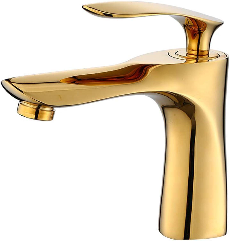 OrzXin Becken-Mischer-Hhne, moderner Badezimmer-Hahn-heier und kalter Messingwannen-Hahn für Küchen-   Badezimmer-Inneneinrichtungen,Gold