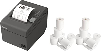 Epson TM-T20II Direct Thermal Printer - Monochrome - Desktop and 12 Rolls of Receipt Paper