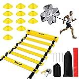 Escalera de Entrenamiento, omitium Kit de Entrenamiento de Velocidad, Velocidad Escalera de Entrenamiento Coordinación Agilidad, Kit de Entrenamiento...