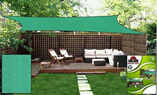 Shalimar Multipurpose Shade Net/Agro Net/Green Net - 75% (Green Colour) (10 ft x 10 ft)