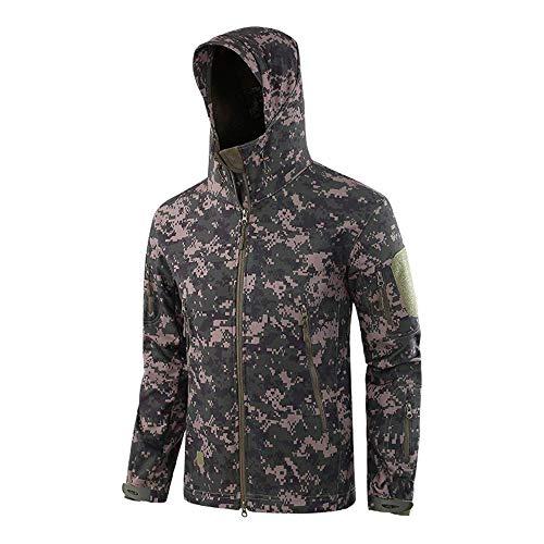 Onsoyours Hombres Chaqueta de Softshell Militar táctica Lucha contra Exteriores Impermeables cálidos Camuflaje Abrigo Hoodie Coat Figuras Militares Rusas M