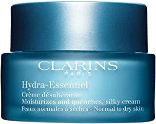 Clarins Hydra-Essentiel Moisturizes and Quenches Silky Cream, Normal To Dry Skin, 1.7 Ounce