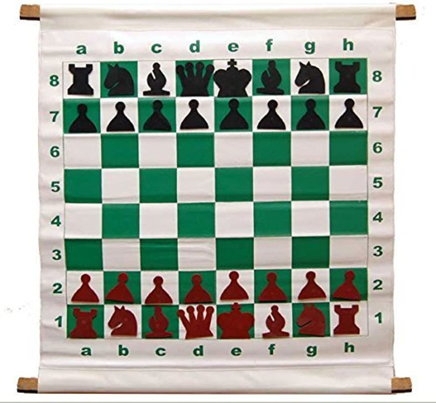 28 Magnetic-Style Chess Demonstration Set with Deluxe Carrying Bag by  The House of Staunton, Inc.