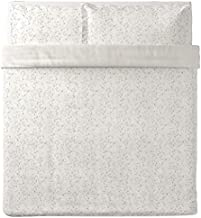 غطاء لحاف وكيس من أيكيا ستراند باللون الأبيض والبيج الفاتح الملك 604.497.18