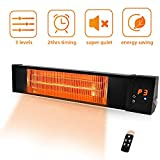 TRUSTECH Patio Heater - Adjustable 1500W Infrared Heater, Electric Heater w/1s-Fast...
