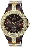 XOXO Women's XO5455 Rhinestone-Accent Chocolate Brown Analog Bracelet Watch