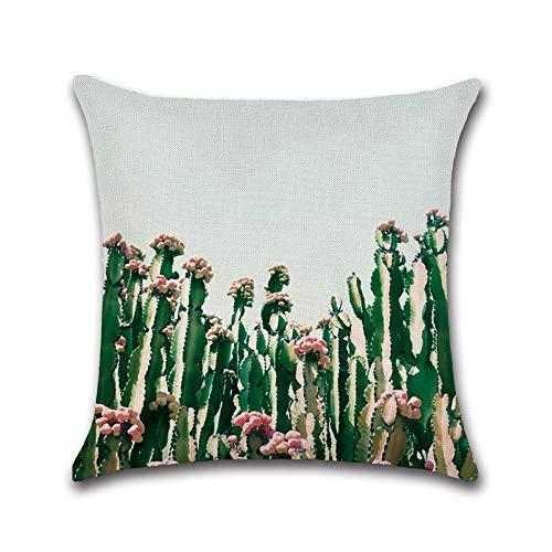 Green Plant kussen, 45 x 45 cm, van linnen, nachtkastje, restaurant vakkanze decoratie
